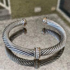 David Yurman 7mm cable bracelet with diamonds